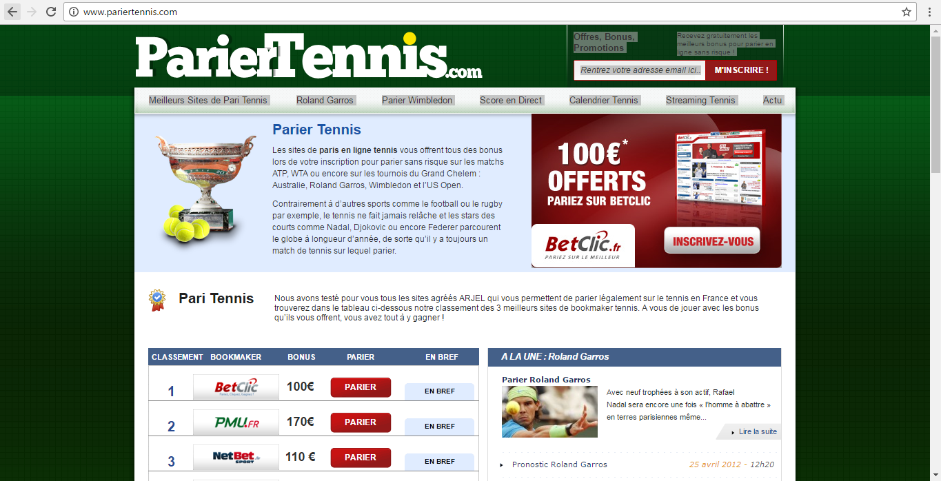 Site de rencontre tennis